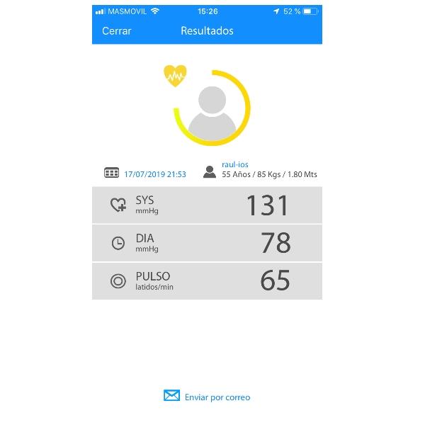 Tensiómetro de brazo bluetooth BPM-160 App
