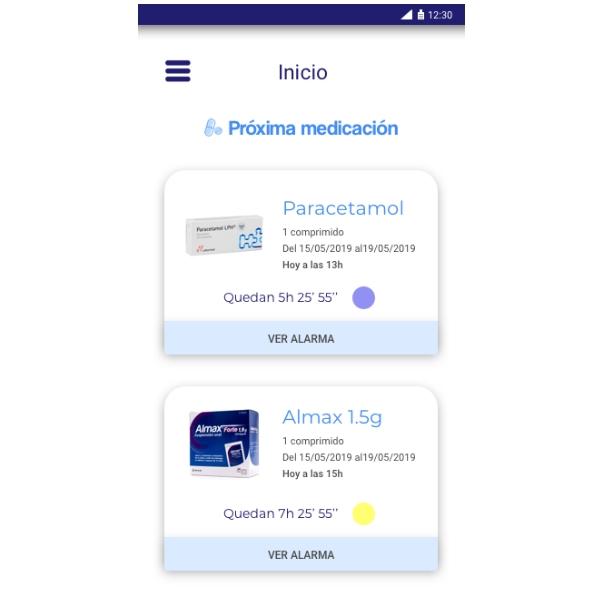 Proximas tomas App Lifevit